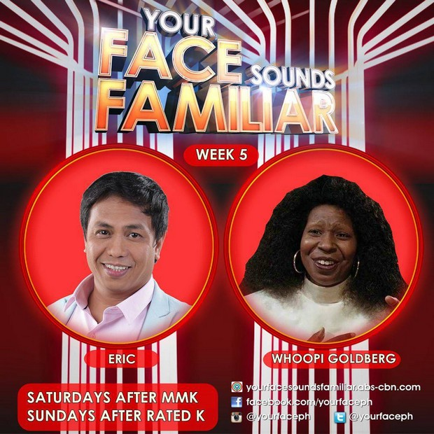 Abangan ang level up na pangggaya ng 8 celebrity performers sa Week 5 ng Your Face Sounds Familiar?