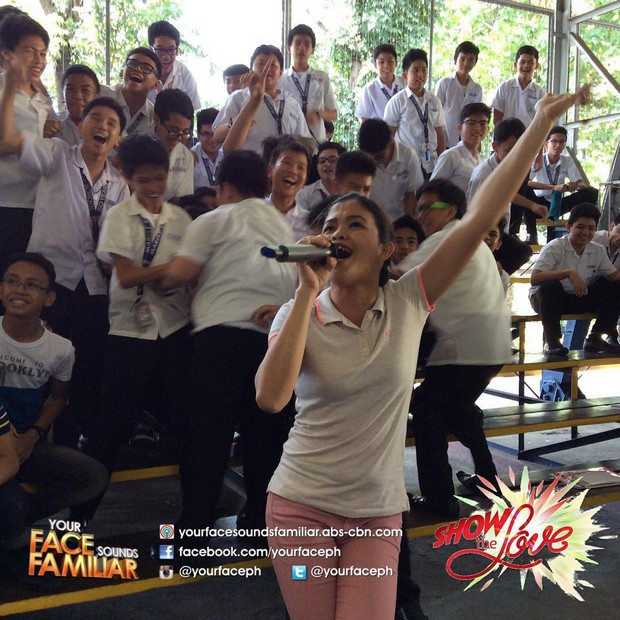 LOOK: Pambansang Ka-Face Melai at celebrity performers, nakikanta at nakisayaw sa mga mag-aaral ng Marist School, Marikina para sa #ShowTheLove